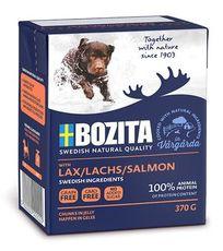 Bozita naturals кусочки в желе с лососем - консервы для собак