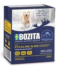 Bozita naturals кусочки в желе с курицей и рисом - консервы для собак