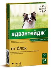 Адвантейдж - капли от блох для собак (до 4 кг)