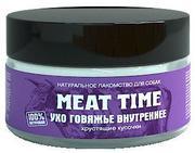"""MEAT TIME """"Ухо говяжье внутреннее Хрустящие кусочки"""" - Лакомство для собак"""