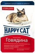 """HAPPY CAT """"ПАУЧ - ГОВЯДИНА """" - КОНСЕРВЫ ДЛЯ СТЕРИЛИЗОВАННЫХ КОШЕК"""