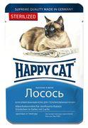 """HAPPY CAT """"ПАУЧ - ЛОСОСЬ"""" - КОНСЕРВЫ ДЛЯ СТЕРИЛИЗОВАННЫХ КОШЕК"""