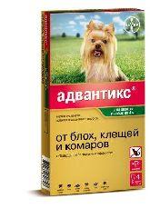 Адвантикс 40с - капли от блох и клещей для собак (до 4 кг)