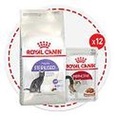 """royal canin акция sterilised 10кг + консервы - сухой корм для кошек"