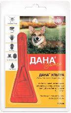 Дана ультра - капли от блох для собак и щенков от 5 до 10 кг