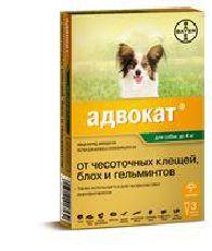 Адвокат - капли на холку для собак до 4 кг