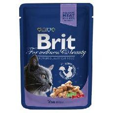 Brit premium треска - консервы для кошек (пауч)