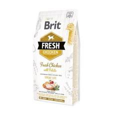 Brit fresh chiken with potato adult breed - сухой корм для собак