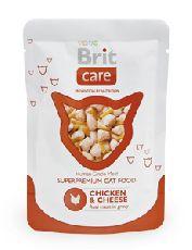 Brit care курица и сыр - консервы для кошек (пауч)