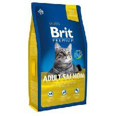 Brit premium cat adult salmon - сухой корм для кошек