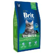 Brit premium cat adult sterilized курица печень - сухой корм для кошек