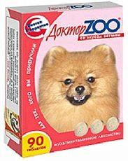 Доктор зоо - витамины для собак со вкусом ветчины