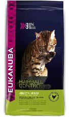 Eukanuba adult hairball indoor - сухой корм для кошек для выведения шерсти их желудка