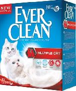 Наполнитель Ever Clean Multiple Cat (красная полоса)
