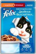"""""""FELIX ДВОЙНАЯ ВКУСНЯТИНА - С ИНДЕЙКОЙ И ПЕЧЕНЬЮ"""