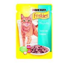 """""""friskies"""" """"лосось кусочки в подливке"""" - консервы для кошек"""