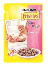"""Friskier junior """"курица кусочки в подливке"""" - консервы для котят"""