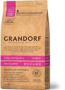 Grandorf Turkey & Rice Adult All Breeds - Сухой корм для взрослых собак  белая рыба и рисом