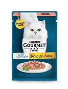 """""""Gourmet Perle """"Желе Делюкс лосось"""" - Консервы для кошек"""