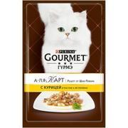 """""""Gourmet A La Carte """"КУРИЦА, ПАСТА И ШПИНАТ"""" - КОНСЕРВЫ ДЛЯ КОШЕК"""
