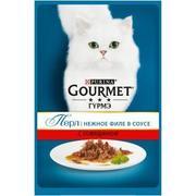 """""""Gourmet Perle """"Мини-филе говядина"""" - Консервы для кошек"""