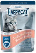 """HAPPY CAT """"ПАУЧ - ГОВЯДИНА И ПТИЦА"""" - КОНСЕРВЫ ДЛЯ КОШЕК"""