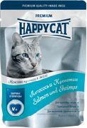 """HAPPY CAT """"ПАУЧ - ЛОСОСЬ И КРЕВЕТКИ"""" - КОНСЕРВЫ ДЛЯ КОШЕК"""