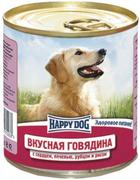 """HAPPY DOG """"ГОВЯДИНА СЕРДЦЕ ПЕЧЕНЬ РУБЕЦ РИС"""" - КОНСЕРВЫ ДЛЯ СОБАК"""