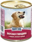 """HAPPY DOG """"ГОВЯДИНА СЕРДЦЕ ПЕЧЕНЬ РУБЕЦ"""" - КОНСЕРВЫ ДЛЯ СОБАК"""
