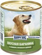 """HAPPY DOG """"БАРАНИНА СЕРДЦЕ ПЕЧЕНЬ РУБЕЦ"""" - КОНСЕРВЫ ДЛЯ СОБАК"""
