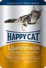 """HAPPY CAT """"ПАУЧ - ЦЫПЛЕНОК С ПЕЧЕНЬЮ И МОРКОВЬЮ"""" - КОНСЕРВЫ ДЛЯ КОШЕК"""