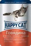 "HAPPY CAT ""ПАУЧ - ГОВЯДИНА С ПЕЧЕНЬЮ В ЖЕЛЕ"" - КОНСЕРВЫ ДЛЯ КОШЕК"