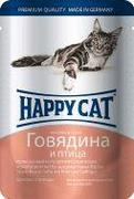 "HAPPY CAT ""ПАУЧ - ГОВЯДИНА И ПТИЦА"" - КОНСЕРВЫ ДЛЯ КОШЕК"