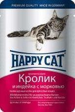 """HAPPY CAT """"ПАУЧ - КРОЛИК, ИНДЕЙКА И МОРКОВЬ"""" - КОНСЕРВЫ ДЛЯ КОШЕК"""