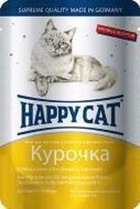 """HAPPY CAT """"ПАУЧ - КУРОЧКА ЛОМТИКИ"""" - КОНСЕРВЫ ДЛЯ КОШЕК"""