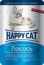 """HAPPY CAT """"ПАУЧ - ЛОСОСЬ ЛОМТИКИ"""" - КОНСЕРВЫ ДЛЯ КОШЕК"""