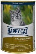 """HAPPY CAT """"УТКА И ЦЫПЛЕНОК В ЖЕЛЕ"""" - КОНСЕРВЫ ДЛЯ КОШЕК"""