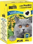 """Bozita MINI """"Кусочки в желе с домашней птицей"""" - Консервы для кошек"""