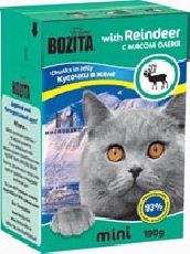 """Bozita MINI """"Кусочки в желе с мясом оленя"""" - Консервы для кошек"""