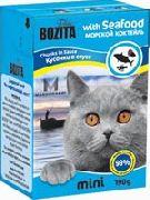 """Bozita MINI """"Кусочки в соусе морской коктель"""" - Консервы для кошек"""