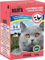 """Bozita MINI """"Кусочки в соусе мясной микс"""" - Консервы для кошек"""