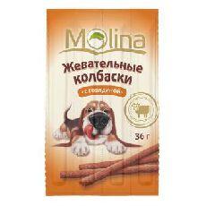 """Molina """"жевательные колбаски с говядиной"""" - лакомство для собак"""