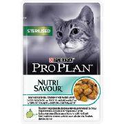 """Pro Plan Nutrisavour Sterelised """"Океаническая рыба"""" - Консервы для кошек ( пауч )"""