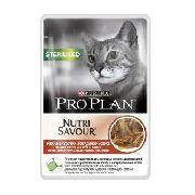 "Pro Plan Nutrisavour Sterilised ""говядина"" - Консервы для кошек ( пауч)"