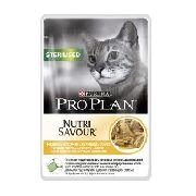 "Pro Plan Nutrisavour Sterilised ""курица "" - Консервы для кошек ( пауч )"