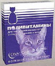 Сева - витамины для кастрированных котов и кошек