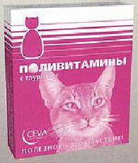 Сева - витамины для кошек старше 7 лет с таурином