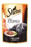 """Корм для кошек SHEBA PLEASURE """"ТЕЛЯТИНА И ЯЗЫК"""" - КОНСЕРВЫ ДЛЯ КОШЕК"""