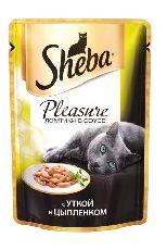 """Корм для кошек SHEBA PLEASURE """"УТКА И ЦЫПЛЕНОК"""" - КОНСЕРВЫ ДЛЯ КОШЕК"""