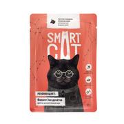 SMART CAT - Паучи для взрослых кошек и котят кусочки говядины в нежном соусе